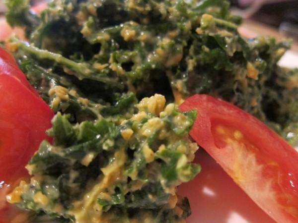 Raw Carrot & Avocado Kale Salad | Glow Kitchen