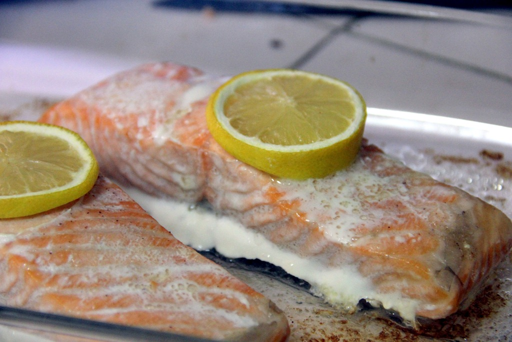 Baked salmon with lemon butter caper sauce glow kitchen while the salmon is cooking in a small saucepan melt butter and add the rest of the sauce ingredients let keep warm on very low heat until ready to serve ccuart Image collections