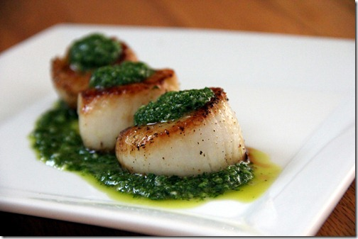 Pan Seared Scallops with Chimichurri Dressing | Glow Kitchen