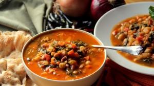 autumn kale soup