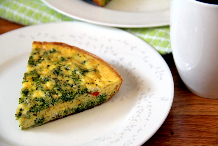 Weekend Brunch: Broccoli and Feta Frittata - Glow Kitchen