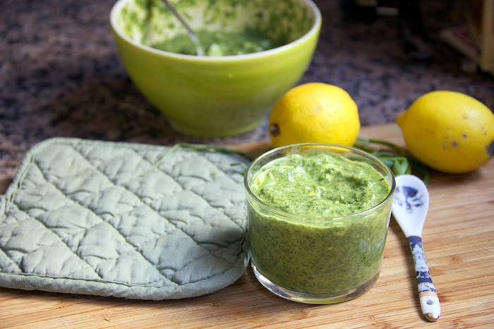 Tangy citrus green herb white fish sauce recipe glow kitchen for White fish sauce recipe