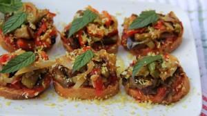 eggplant bruschetta